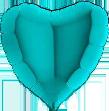 Tiffany Foil Heart 24in/60cm
