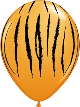 Tiger Stripes Standard Orange Latex Round 11in/27.5cm