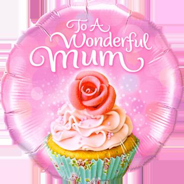 To A Wonderful Mum Cupcake Foil Round 18in/45cm