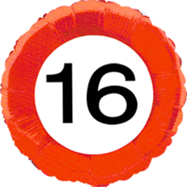 Traffic Sign 16 Foil Round 18in/45cm