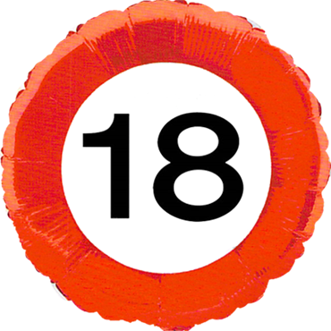 Traffic Sign 18 Foil Round 18in/45cm