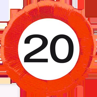 Traffic Sign 20 Foil Round 18in/45cm