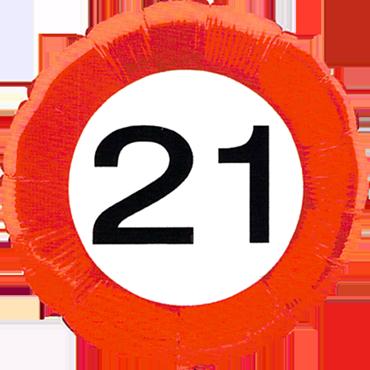 Traffic Sign 21 Foil Round 18in/45cm
