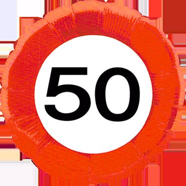 Traffic Sign 50 Foil Round 18in/45cm