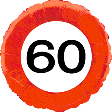 Traffic Sign 60 Foil Round 18in/45cm