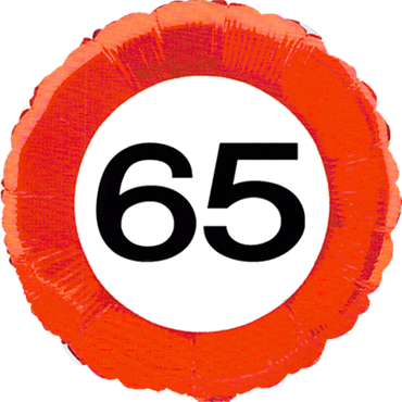 Traffic Sign 65 Foil Round 18in/45cm
