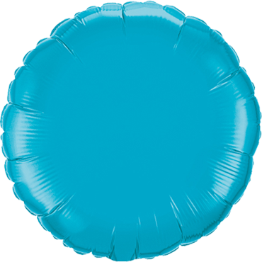 Turquoise Foil Round 4in/10cm