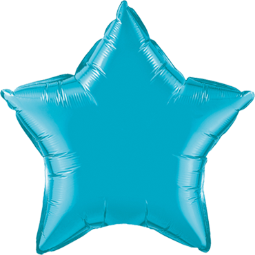 Turquoise Foil Star 9in/22.5cm
