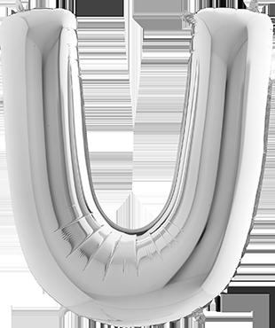 U Silver Foil Letter 7in/18cm