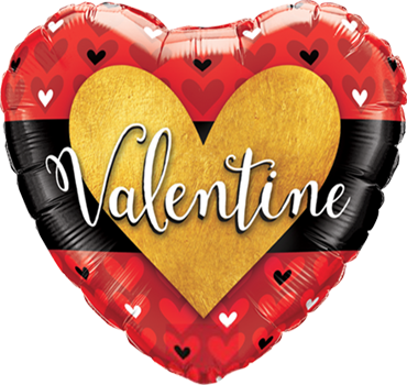 Valentine Burnished Heart Gold Foil Heart 18in/45cm