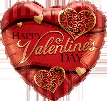 Valentines Golden Filigree Foil Heart 18in/45cm