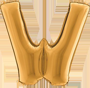 W Gold Foil Letter 7in/18cm