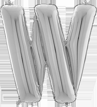 W Silver Foil Letter 26in/66cm