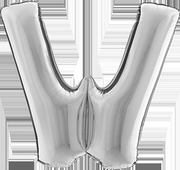 W Silver Foil Letter 7in/18cm
