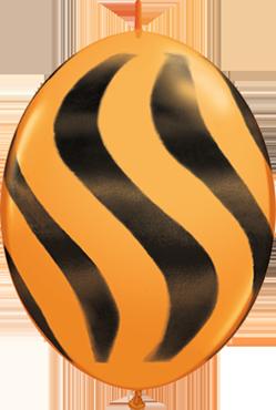 Wavy Stripes Standard Orange w/Black QuickLink 12in/30cm