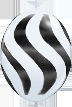 Wavy Stripes Standard White w/Black QuickLink 12in/30cm