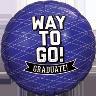 Way To Go Grad - Purple Foil Round 18in/45cm
