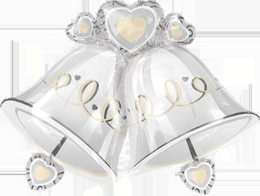 Wedding Bells Foil Shape 35in/87cm x 26in/65cm