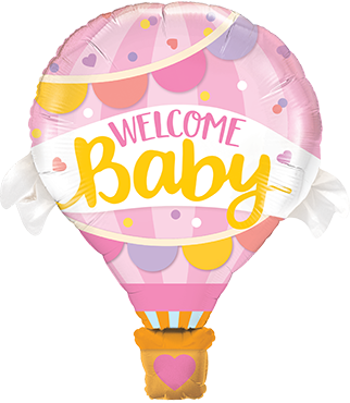 Welcome Baby Pink Balloon Foil Shape 42in/107cm