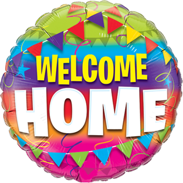 Welcome Home Pennents Foil Round 18in/45cm