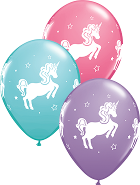 Whimsical Unicorn Special Assortment Latex Round 11in/27.5cm