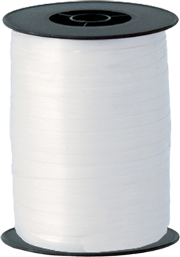 White Curling Ribbon 5mm x 500m