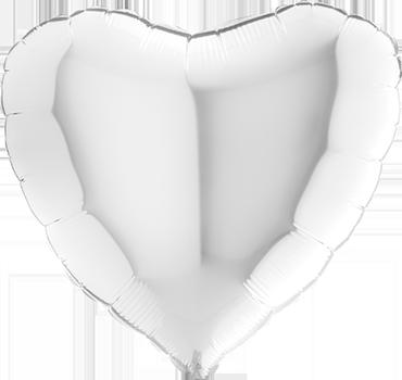 White Foil Heart 24in/60cm