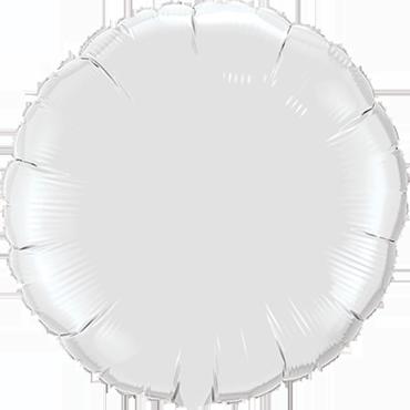White Foil Round 18in/45cm