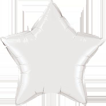 White Foil Star 9in/22.5cm