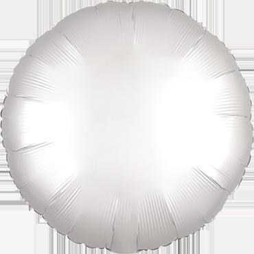 White Satin Luxe Foil Round 17in/43cm