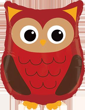 Woodland Owl Foil Shape 26in/66cm