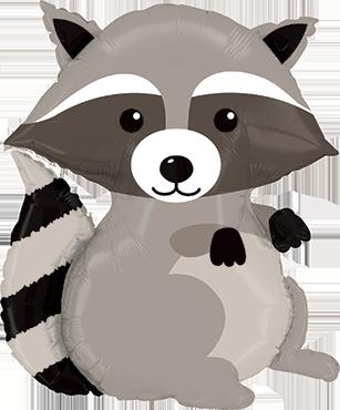 Woodland Raccoon Foil Shape 36in/91cm