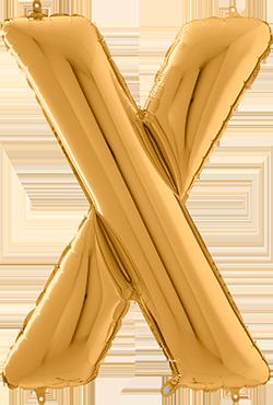 X Gold Foil Letter 26in/66cm