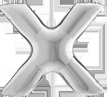 X Silver Foil Letter 7in/18cm