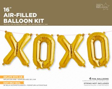 XOXO Kit Gold Foil Letters 16in/40cm