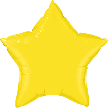 Yellow Foil Star 20in/50cm