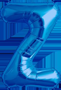 Z Blue Foil Letter 16in/40cm