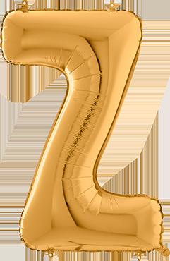 Z Gold Foil Letter 26in/66cm