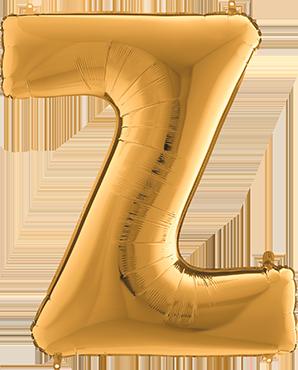 Z Gold Foil Letter 7in/18cm