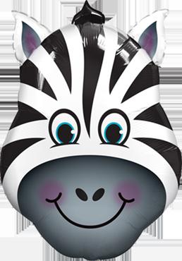 Zany Zebra Foil Shape 14in/36cm