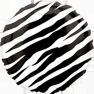 Zebra Foil Round 18in/45cm