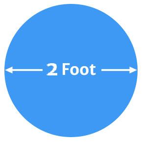 2 foot Ballonnen