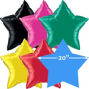 20 inch Folieballonnen Ster