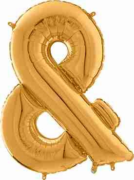& Gold Foil Letter 26in/66cm