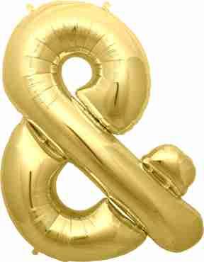 % Gold Foil Letter 34in/86cm
