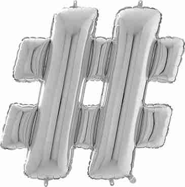 # Silver Foil Letter 26in/66cm