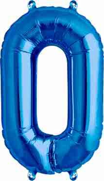 0 Blue Foil Number 34in/86cm
