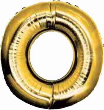0 Gold Foil Number 8in/20cm