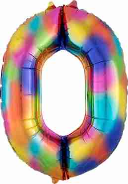 0 Rainbow Splash Foil Number 35in/88cm