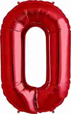 0 Red Foil Number 34in/86cm